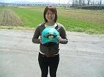 競艇選手 森世里さんのヘルメットをペイント