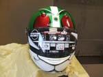 仮面ライダーのヘルメットをペイント